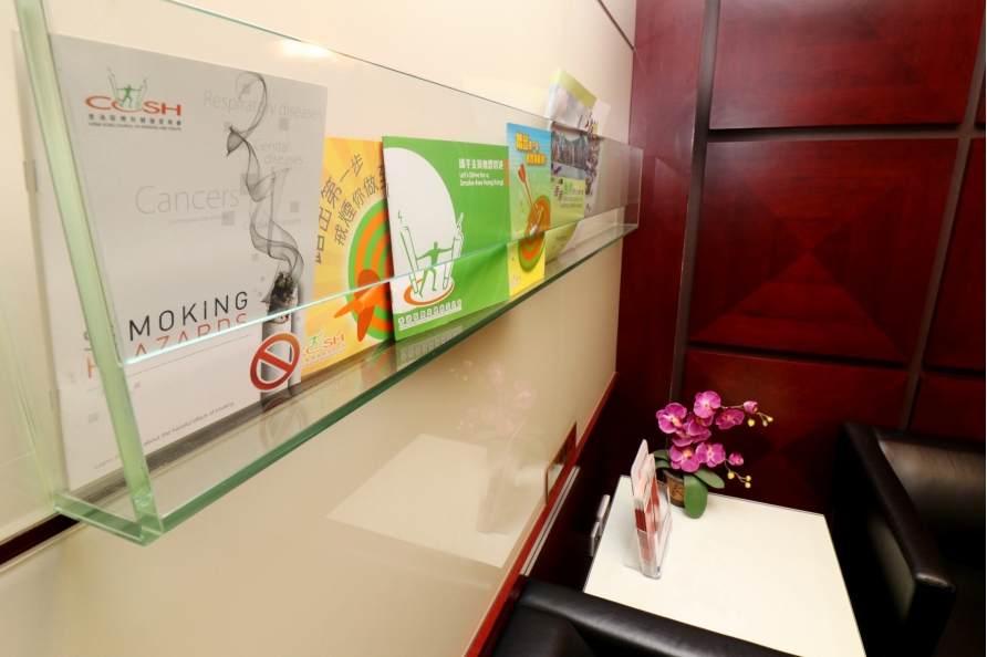 Smoke-free pamphlets were available in office to promote smoke-free messages.